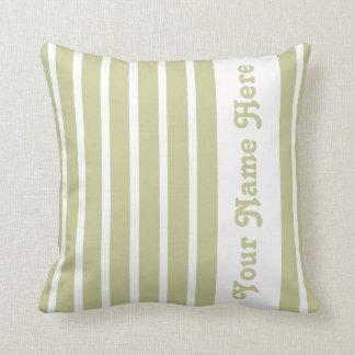 Serengeti Safari Stripe Pillow with name Throw Cushions