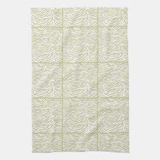 Serengeti Safari Zebra tiled design Kitchen Towels