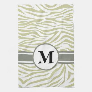 Serengeti Safari Zebra with monogram Towels