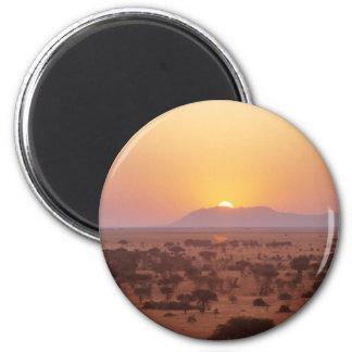 Serengeti Sunset 6 Cm Round Magnet