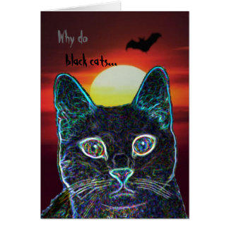 Serenity as black cat -- customized greeting cards