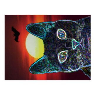 Serenity as Black Cat Postcard