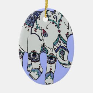 Serenity Boho Elephant Ceramic Oval Decoration