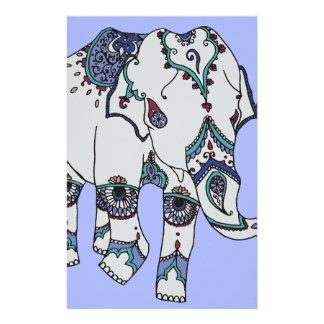 Serenity Boho Elephant Custom Stationery