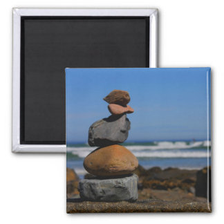 Serenity By The Ocean Square Magnet