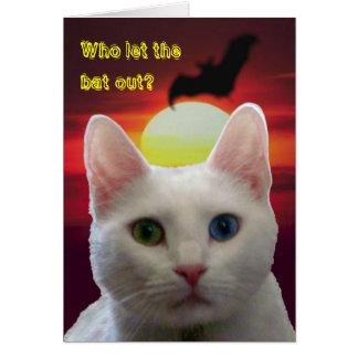 Serenity Cat & Bat Card -- customized