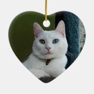 Serenity close-up heart ornament