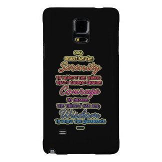 Serenity Courage Wisdom Colorful Text Galaxy Note 4 Case