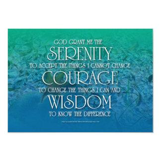 Serenity, Courage, Wisdom 5x7 Paper Invitation Card