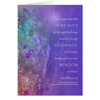Serenity, Courage, Wisdom Prayer Card