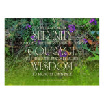 Serenity, Courage, Wisdom Prayer Card Pack Of Chubby Business Cards