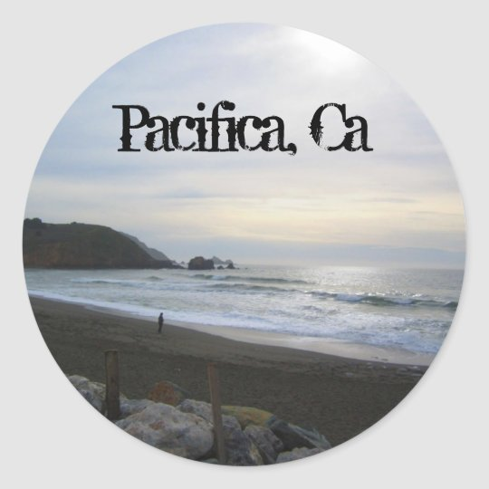 Serenity in Pacifica decal Classic Round Sticker
