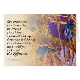 Serenity Irises Blue Orange Cards