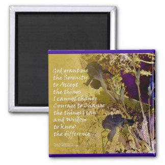 Serenity Irises Gold & Blue Magnet