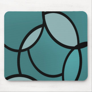 Serenity light blue and black mouse mat