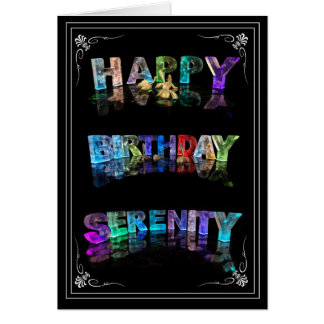 Serenity -  Name in Lights greeting card (Photo)