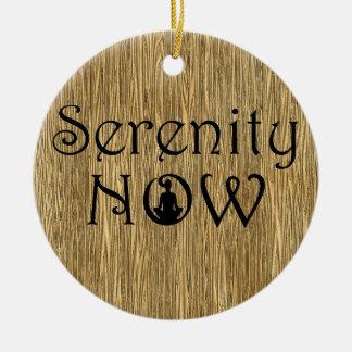 Serenity Now - Yoga Christmas Ornament