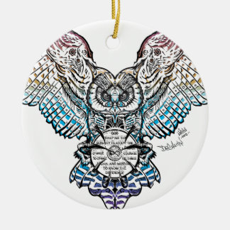 Serenity Owl Christmas Ornament