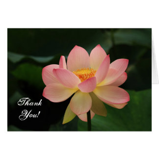 Serenity Pink Lotus Flower Buddhist Thank You Card