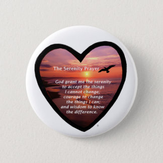 Serenity Prayer 6 Cm Round Badge