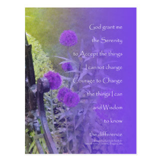 Serenity Prayer Allium Purple Postcards