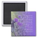 Serenity Prayer Allium Purple Square Magnet