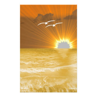 Serenity Prayer and Sunset Stationery Paper