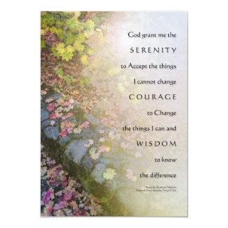 Serenity Prayer Autumn Leaves and Stone Wall Invit 13 Cm X 18 Cm Invitation Card