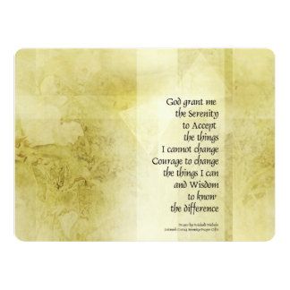 Serenity Prayer Azalea Gentle 17 Cm X 22 Cm Invitation Card
