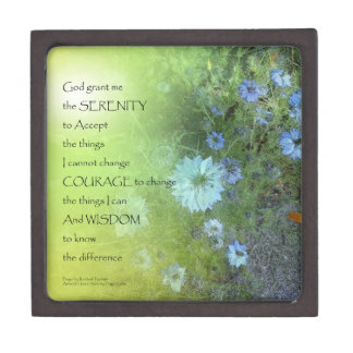 Serenity Prayer Bachelor's Buttons Premium Gift Boxes