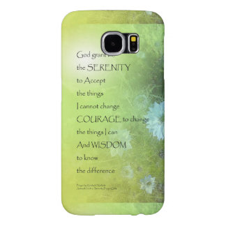 Serenity Prayer Bachelor's Buttons Samsung Galaxy S6 Cases