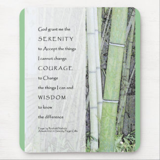 Serenity Prayer Bamboo Mouse Mat