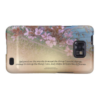 Serenity Prayer Blossoms Blue House Galaxy S2 Cases