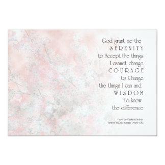 Serenity Prayer Blossoms Invitation