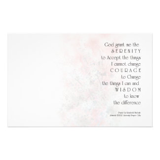 Serenity Prayer Blossoms Stationery