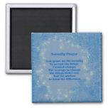 Serenity Prayer Blue Hearts Inspirational Magnet