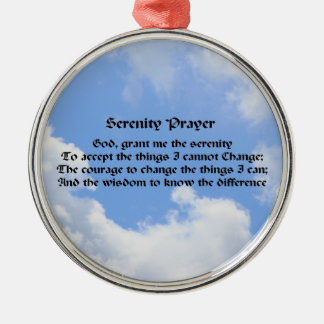 Serenity Prayer Blue Sky Inspirational Ornament