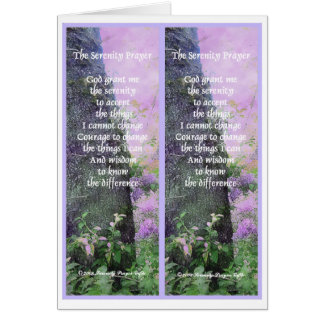 Serenity Prayer Bookmarks Card