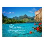 Serenity Prayer & Bora Bora Postcards