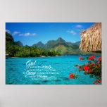 Serenity Prayer & Bora Bora Poster