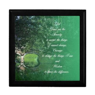 Serenity Prayer Bridge Gift Box