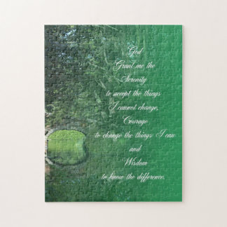 Serenity Prayer Bridge Jigsaw Puzzle