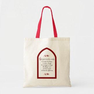 Serenity Prayer-Burgundy Frame/Vintage Bags