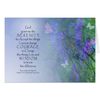 Serenity Prayer Butterflies & Vetch Card