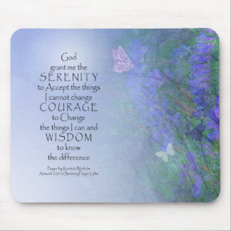 Serenity Prayer Butterflies & Vetch Mouse Mat