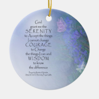 Serenity Prayer Butterflies & Vetch Ornament