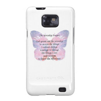 Serenity Prayer Butterfly 2 Samsung Galaxy S2 Cases