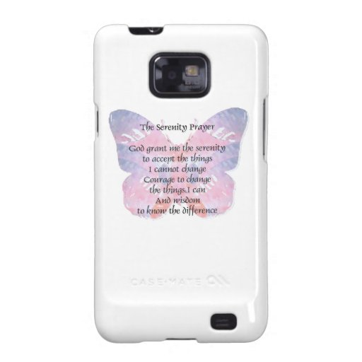 Serenity Prayer Butterfly 2 Samsung Galaxy S2 Cases