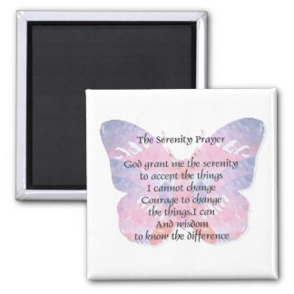 Serenity Prayer Butterfly 2 Magnet