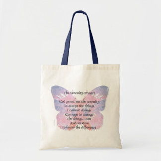 Serenity Prayer Butterfly Canvas Bags